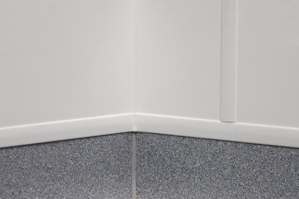 Corner where flooring meets wall