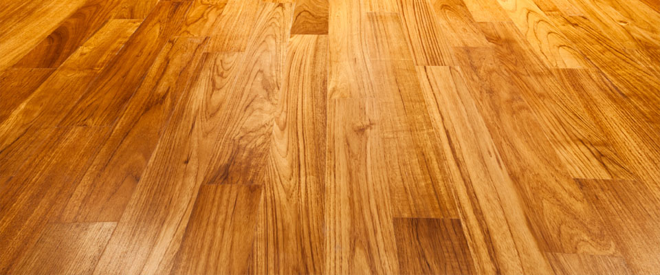 Honey colour shiny wood flooring